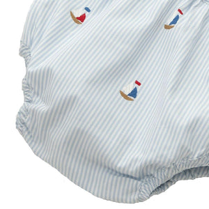 diaper cover embroidered nautical  6 - 12 mths