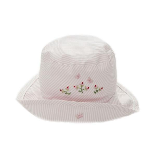 toddler sun hat rosebud pink 6 - 12 mths