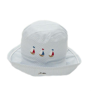 toddler sun hat nautical 6 - 12 mths