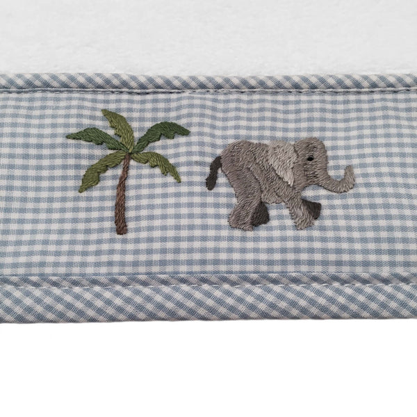 baby terry face cloth - on safari blue