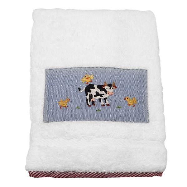 baby terry guest towel - little barn blue