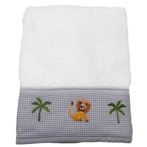baby terry guest towel - on safari blue