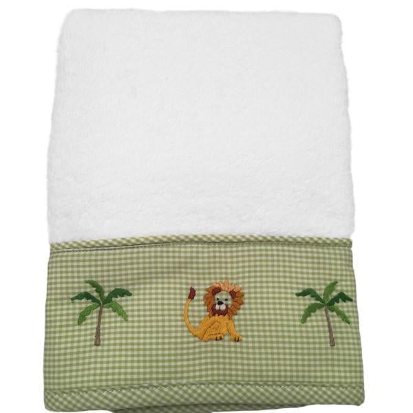 baby terry guest towel - on safari green