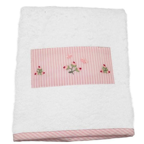 baby terry guest towel - baby rosebud pink