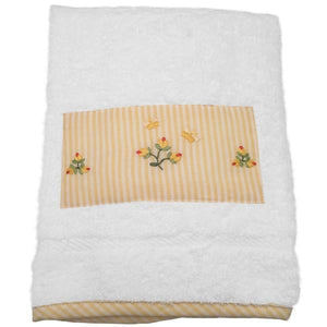 baby terry guest towel - baby rosebud yellow