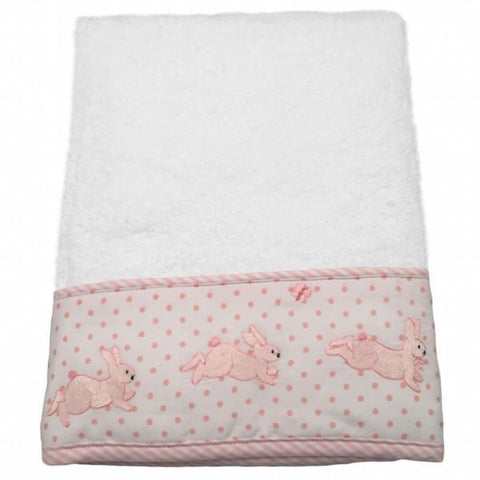 baby terry hand towel - bunny tea party