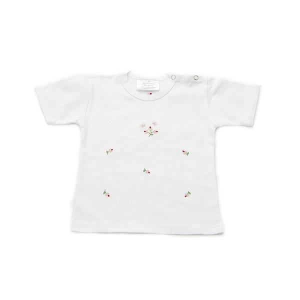 toddler t shirt rosebud pink 6-12 mths