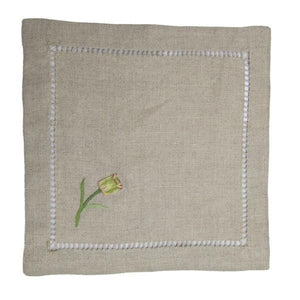 gordonsbury hand embroidered linen cocktail napkin