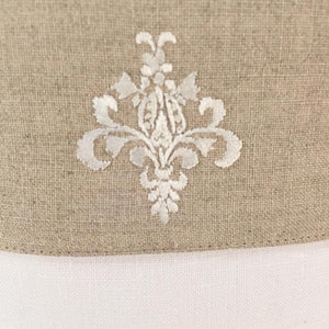 linen vanity holders large - white ornamental