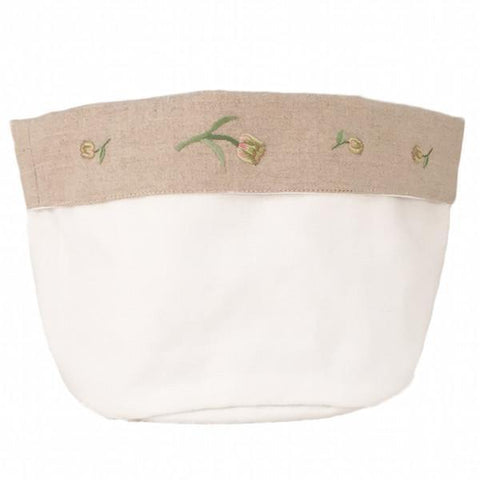 linen vanity holders large - white tulip