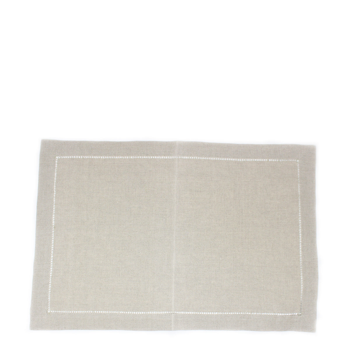 natural ladder stitch linen placemat