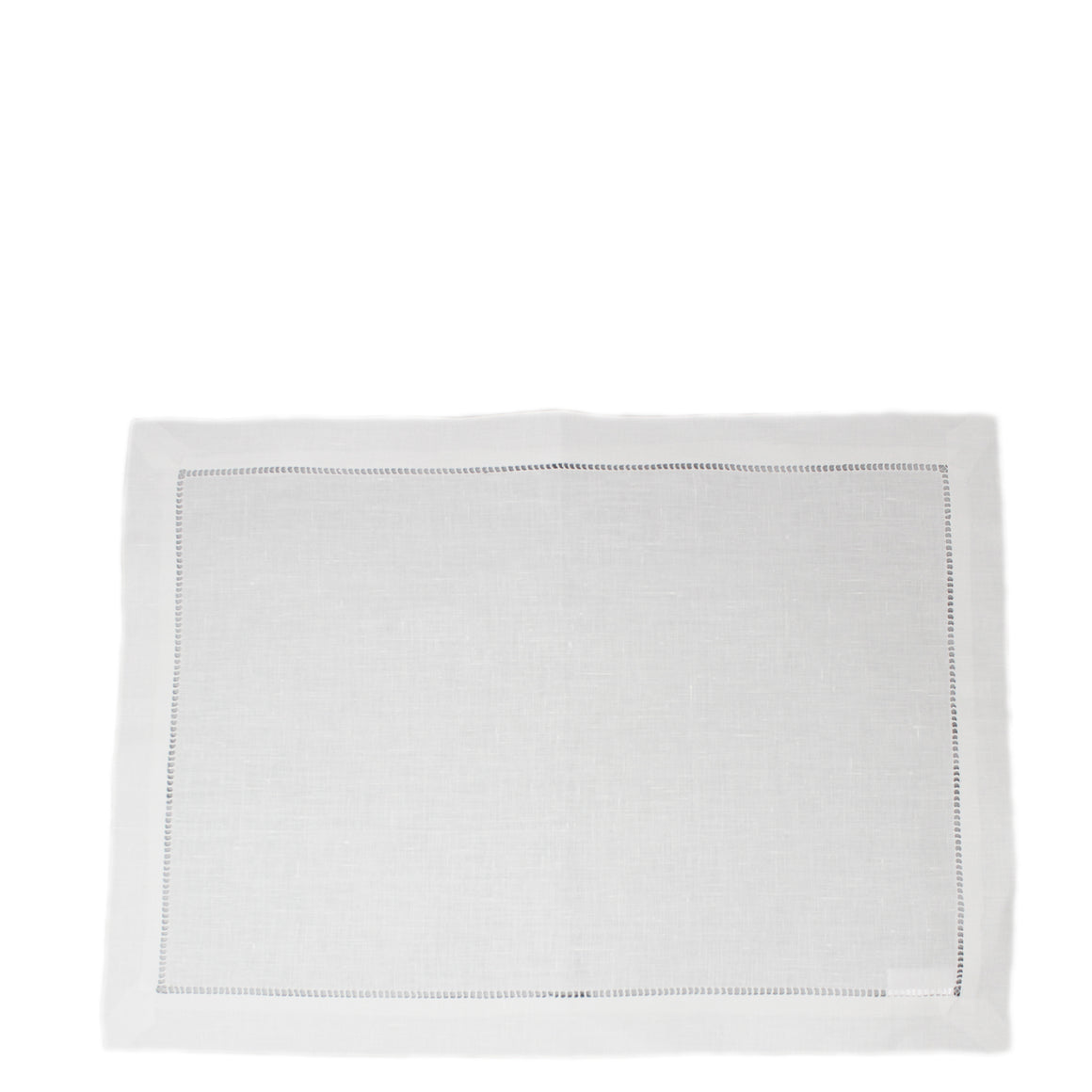 white ladder stitch linen placemat