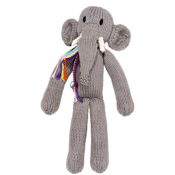 hand knitted elephant toy