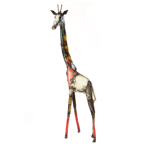 recycled oil drum giraffe