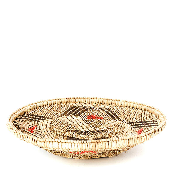 handwoven tabletop basket