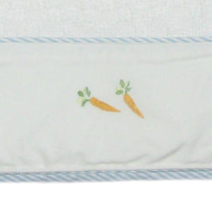 cotton cable blanket peter rabbit with blue trim