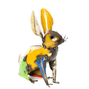 recycled oil drum bunny