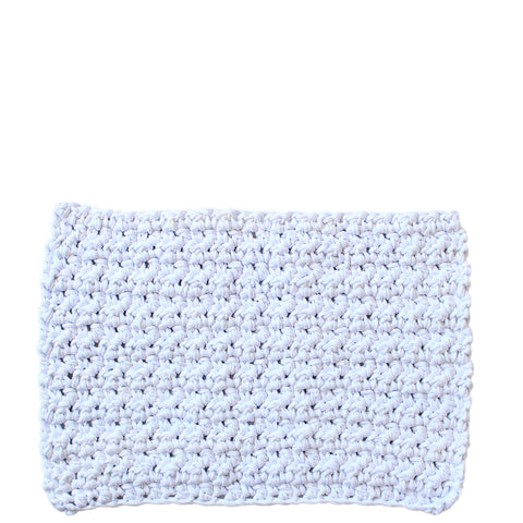 hand knit shower mat from tarn yarn cotton