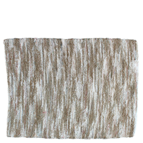 small cotton bathroom mat - natural white mix