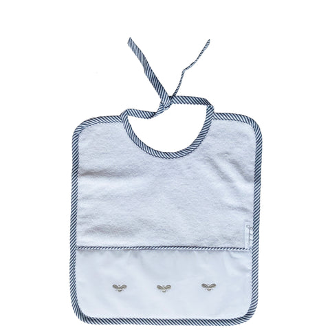 grey baby bee terry bib