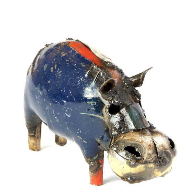 recycled oil drum hippo