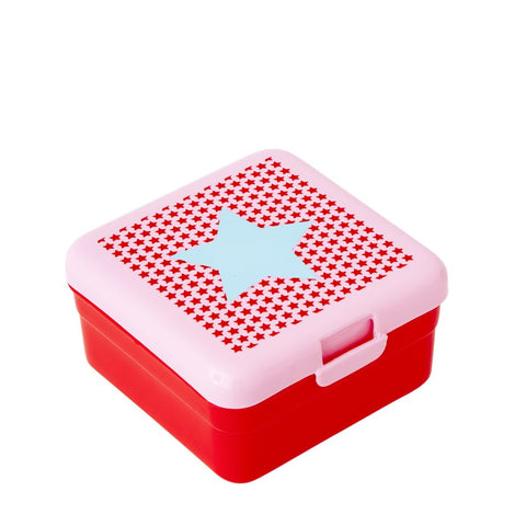 Kids Small Lunch Box in Pink Star Print