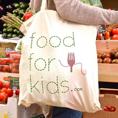 Food For Kids Cotton Shopping Bag