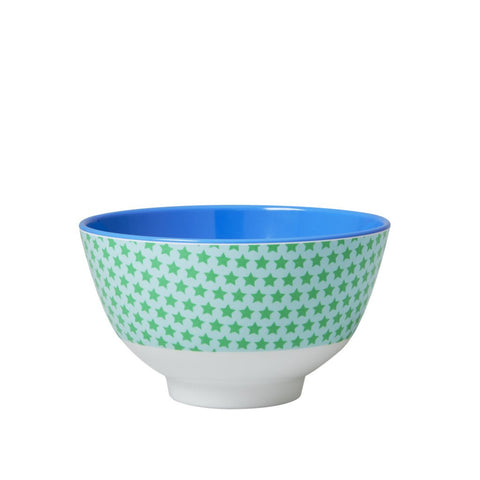 Small Star Print Bowl in Green