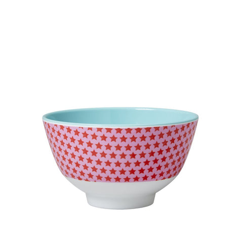 Small Star Print Bowl in Pink