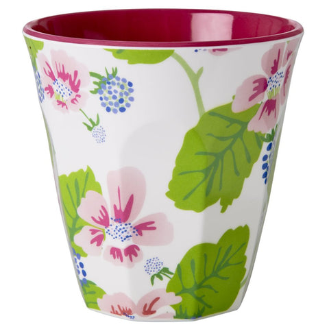 Medium Sized Cup In Blossom Berry Print