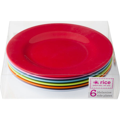 6 x Colourful Melamine Kids Plates
