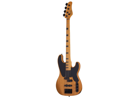 Schecter Model-T Session Bass Guitar - Maple/Aged Natural Satin - 2848