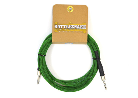 Rattlesnake Cable Company Standard 10 Foot Cable Straight to Straight Plugs - Mean Green