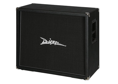 "Diezel 2x12"" Rear Loaded Cabinet Celestion Vintage 30 - Black Grille Cloth - Silver Piping"