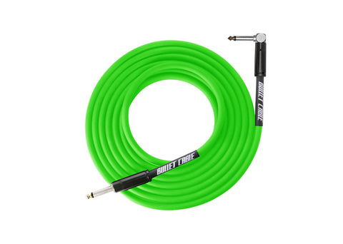 Bullet Cable Thunder Series 20' Feet Straight/Angle Cable - Green