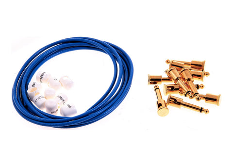George L's .155 Effects Pedal Cable Kit - Blue/Gold