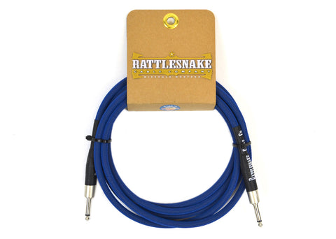 Rattlesnake Cable Company Standard 10 Foot Cable Straight to Straight Plugs - Blue