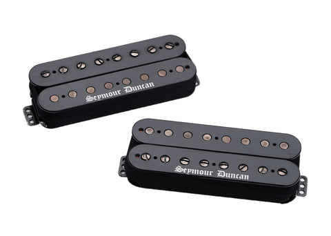 Seymour Duncan 8 String Black Winter Bridge & Neck Pickup Set