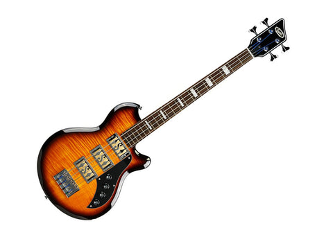 Supro Huntington III Electric Bass Guitar - Tobacco Sunburst/Rosewood - 2043PTS