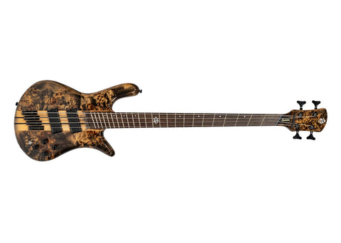 Spector NS Dimension 4-String Solid Body Bass Guitar - Wenge/Super Faded Black Gloss Finish - NSDM4SFB