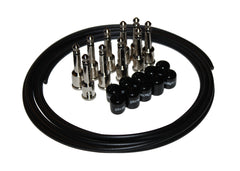 George L's .155 Effects Pedal Cable Kit - Black/Nickel