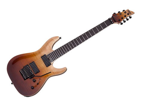 Schecter C-7 FR SLS Elite Electric Guitar - Antique Fade Burst/Ebony - 1356