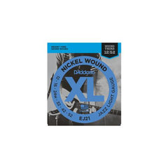 D'Addario EJ21 Nickel Wound Electric Guitar Strings Jazz Light Gauge 12-52