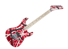 "EVH Wolfgang Striped Series Electric Guitar - R/B/W ""5150"" Striped Pattern - 5107902515 GENTLY USED"