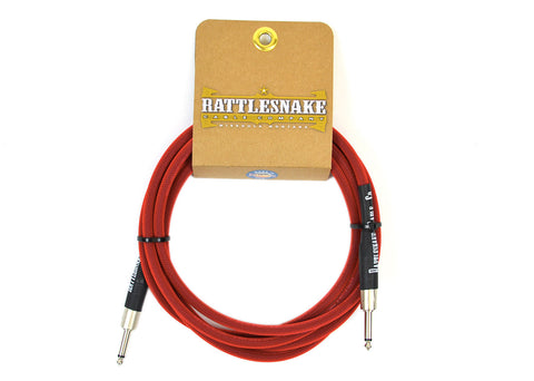 Rattlesnake Cable Company Standard 10 Foot Cable Straight to Straight Plugs - Red