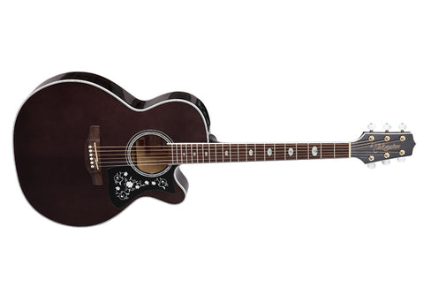 Takamine Guitars NEX Acoustic Guitar - Laurel/Transparent Black Finish - GN75CE TBK