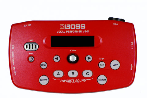 Boss VE-5 Vocal Processor Red