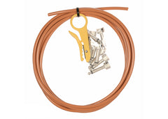 Lava Cable Soldered Kit Right Angle Nickel Plugs - Orange Clearance