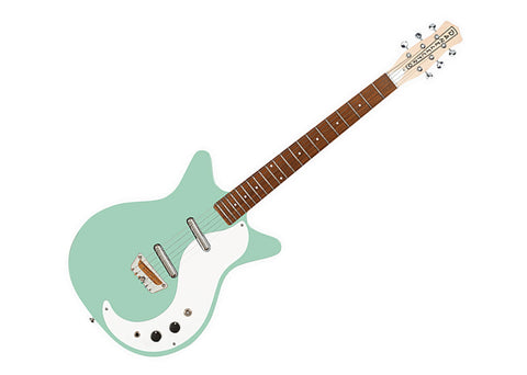Danelectro 59 Semi Hollow Body Electric Guitar Vintage Aqua - STOCK 59