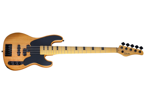 Schecter Model-T Session-5 5-String Bass Guitar - Maple/Aged Natural Satin - 2847